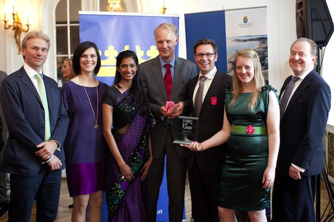 Awarding of the 2013 - Wirtschaftspreis der Schwedischen Handelskammer