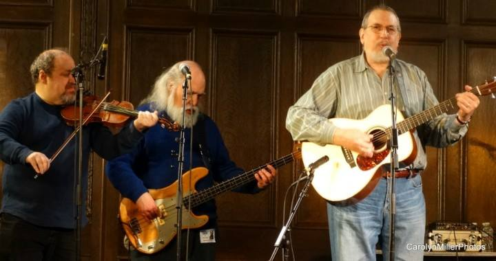 Playing with David Bromberg and Larry Cohen at Gene Shay's 80th birthday/retirement concert. March 2015