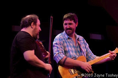 With Tao Rodriguez-Seeger at World Cafe Live. 2011
