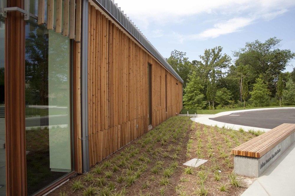 Building Detail on Adam Aronson Fine Arts Center