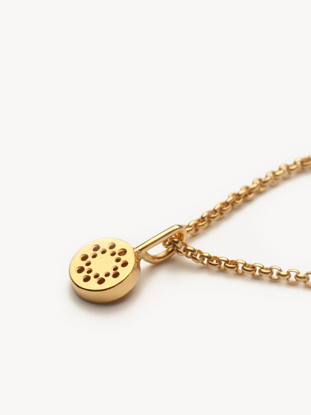 Christina Pauls, kleiner Punkt Anhänger in 750 Gold