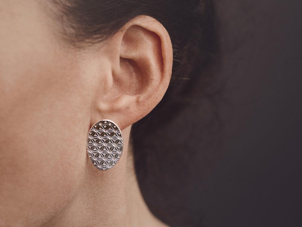 Nadelwerk-Ohrstecker Keiko in 925 Silber  Nadelwerk-earrings Keiko in sterling silver