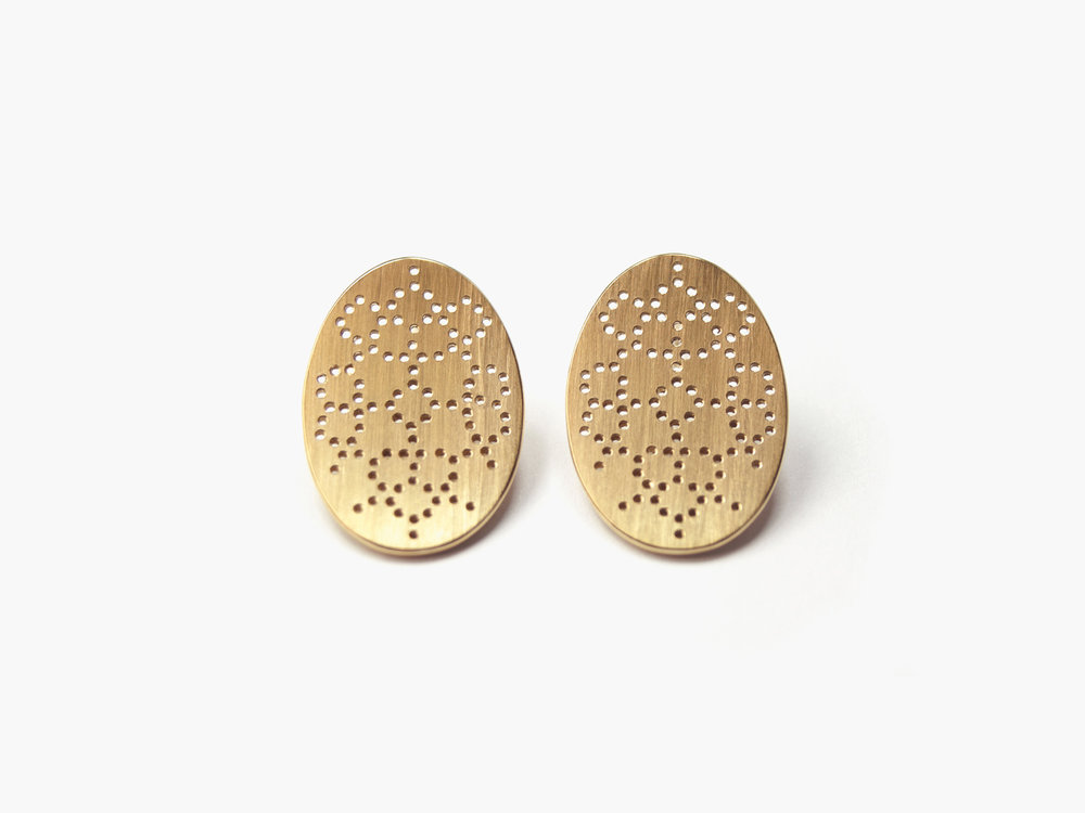 Nadelwerk-Ohrstecker Elea in 750 Gold  Nadelwerk-earrings Elea in 18kt gold