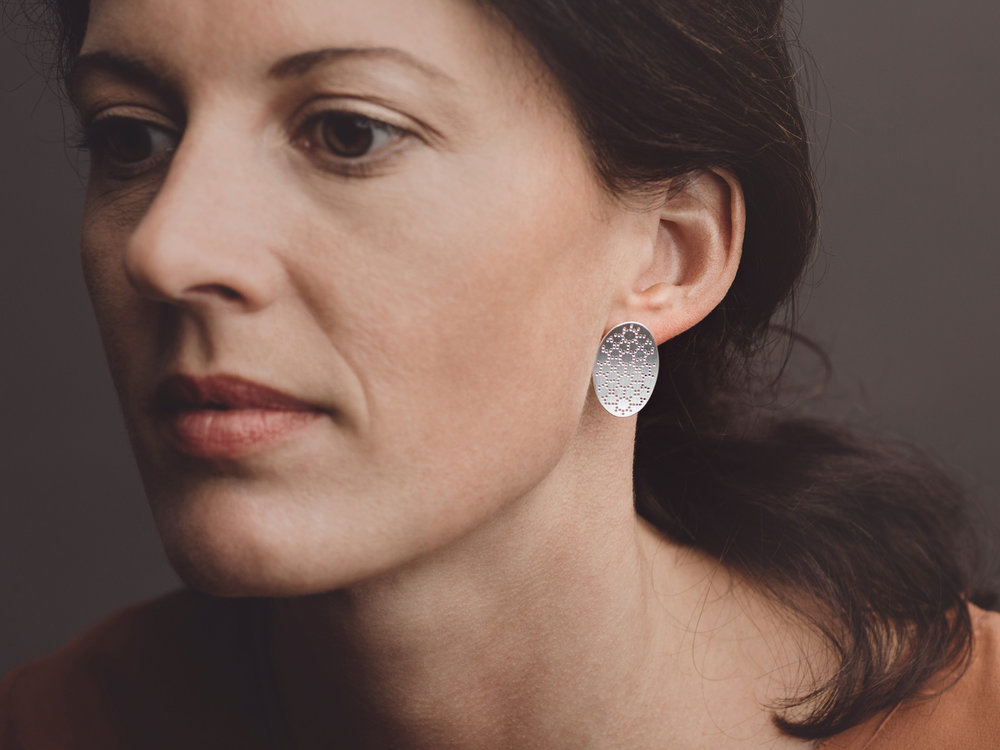 Nadelwerk-Ohrstecker Stine in 925 Silber  Nadelwerk-earrings Stine in sterling silver