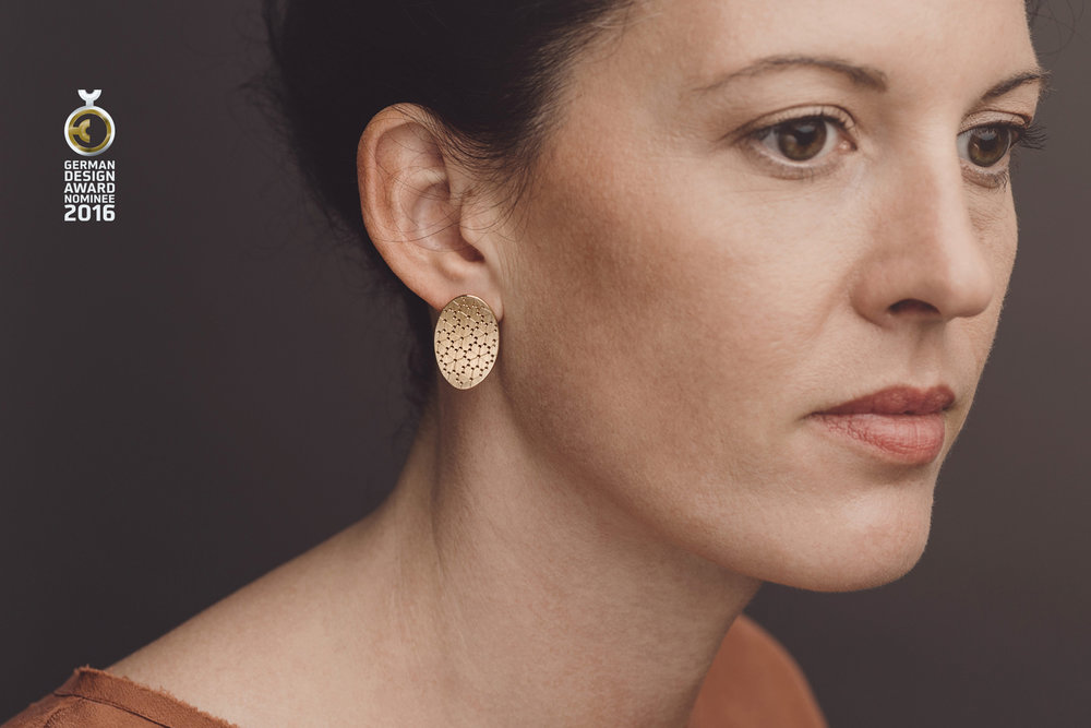 Nadelwerk-Ohrstecker Linnea in 750 Gold  Nadelwerk-earrings Linnea in 18kt gold