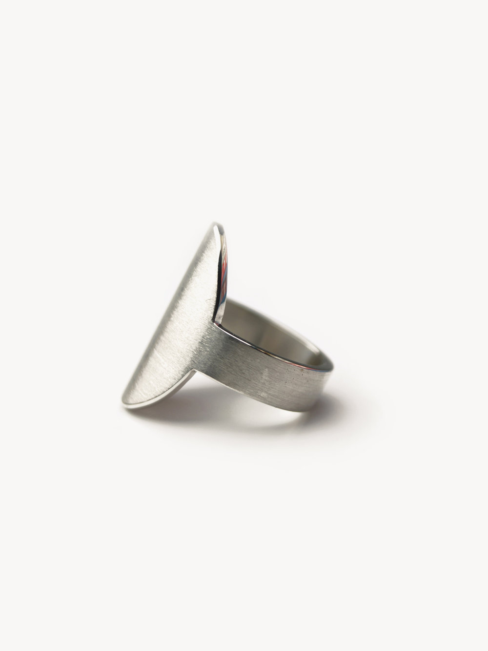 Siegelring, hochoval groß in 925 Silber/ Signet ring, vertical oval big in sterling silver