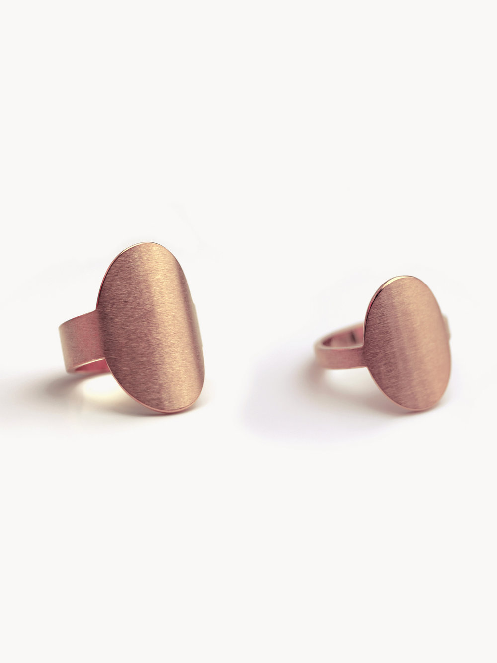 Übersicht Siegelringe Anda, hochoval in 585 Rosegold  Overview signet rings Anda, vertical oval in 14kt rosegold