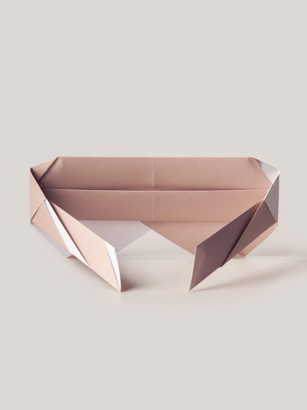 Origami Figur Sonnenbrille Diva  Origami figure Sunglasses
