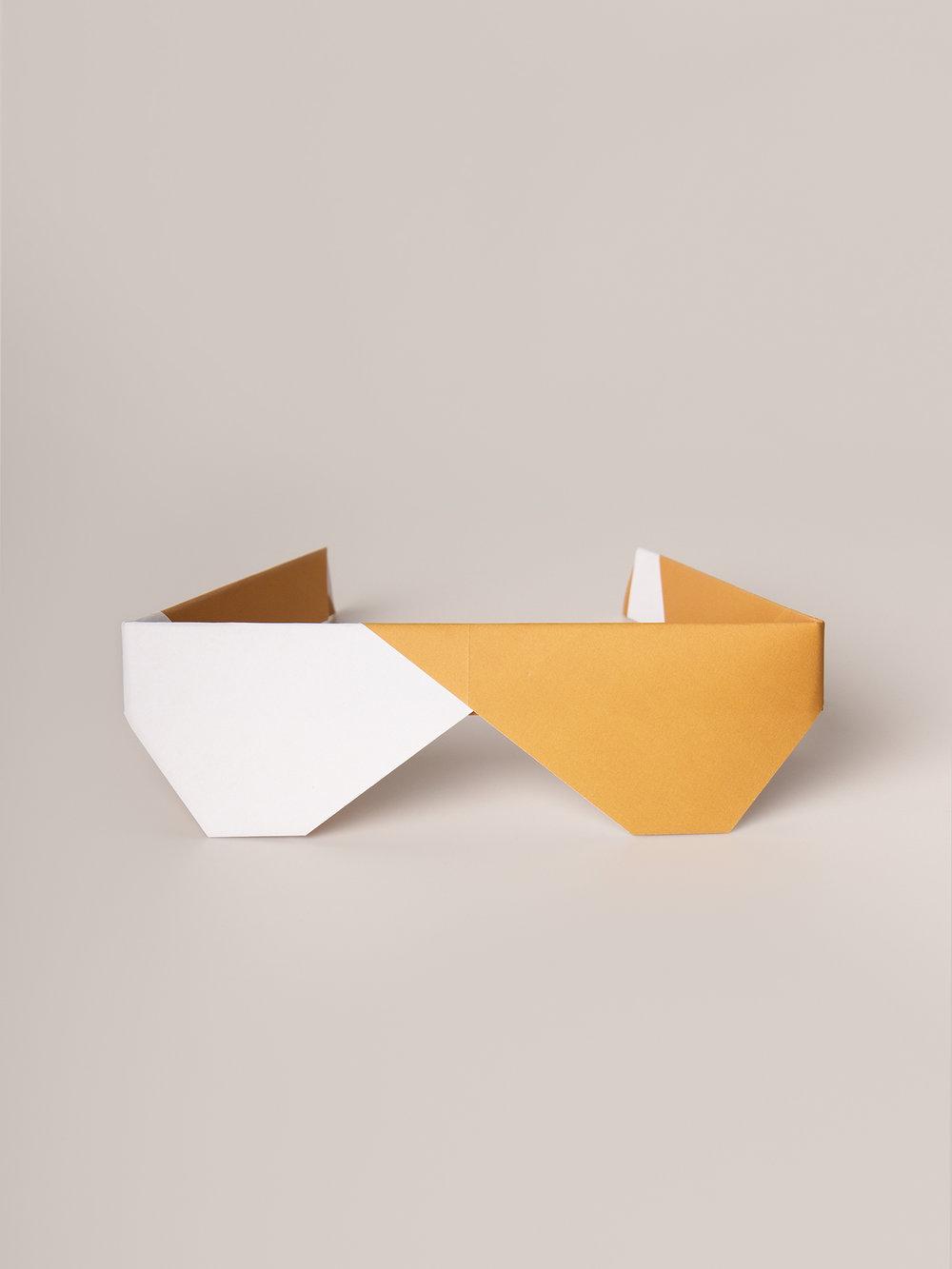Origami Figur Sonnenbrille  Origami figure Sunglasses