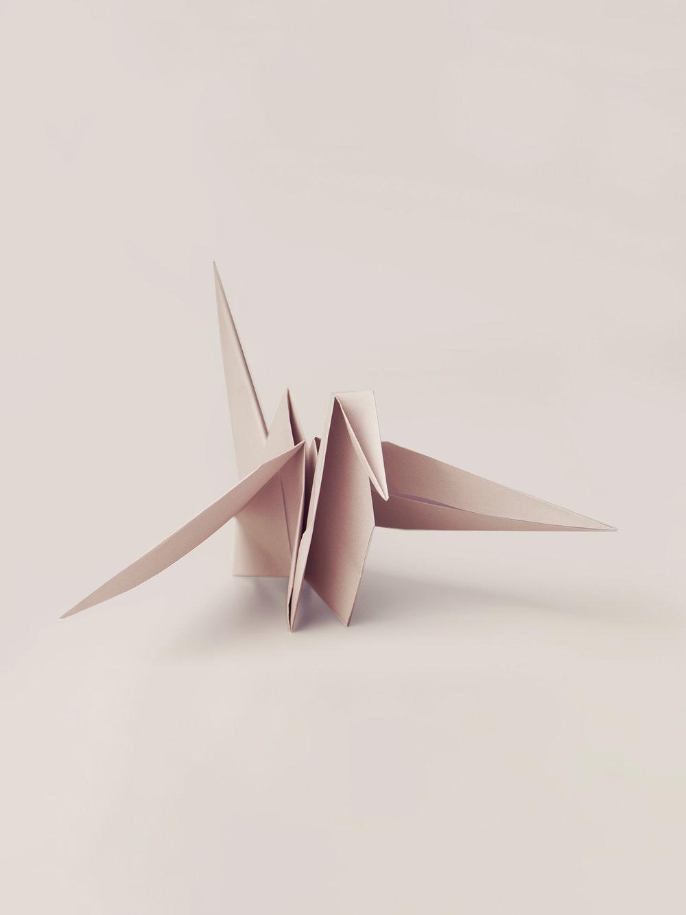 Origami Figur Kranich  Origami figure Crane