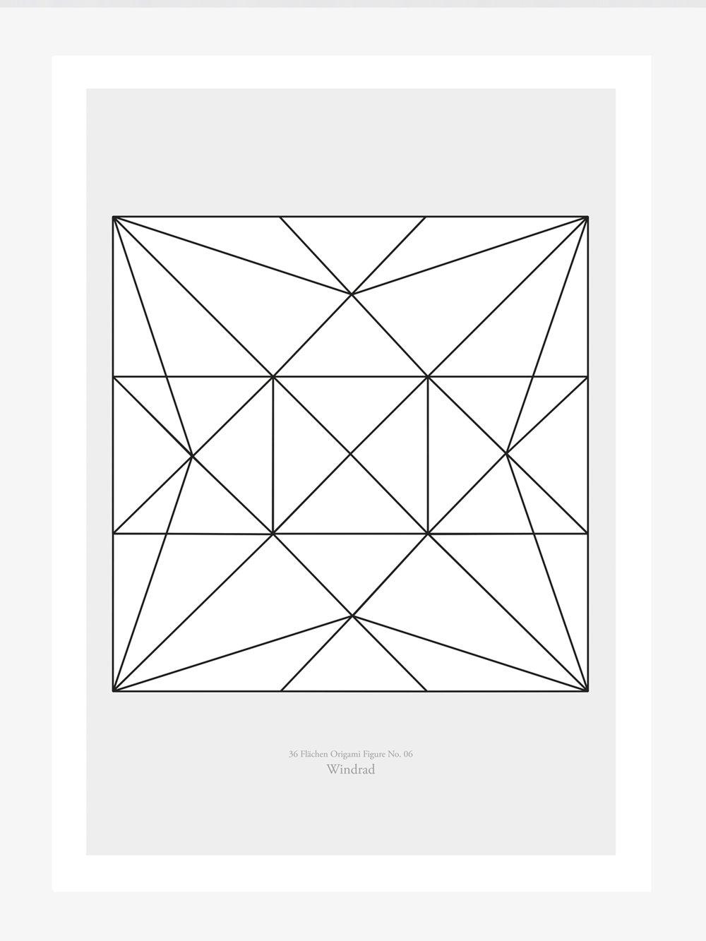 Origami Print Windrad  Origami print Pinwheel