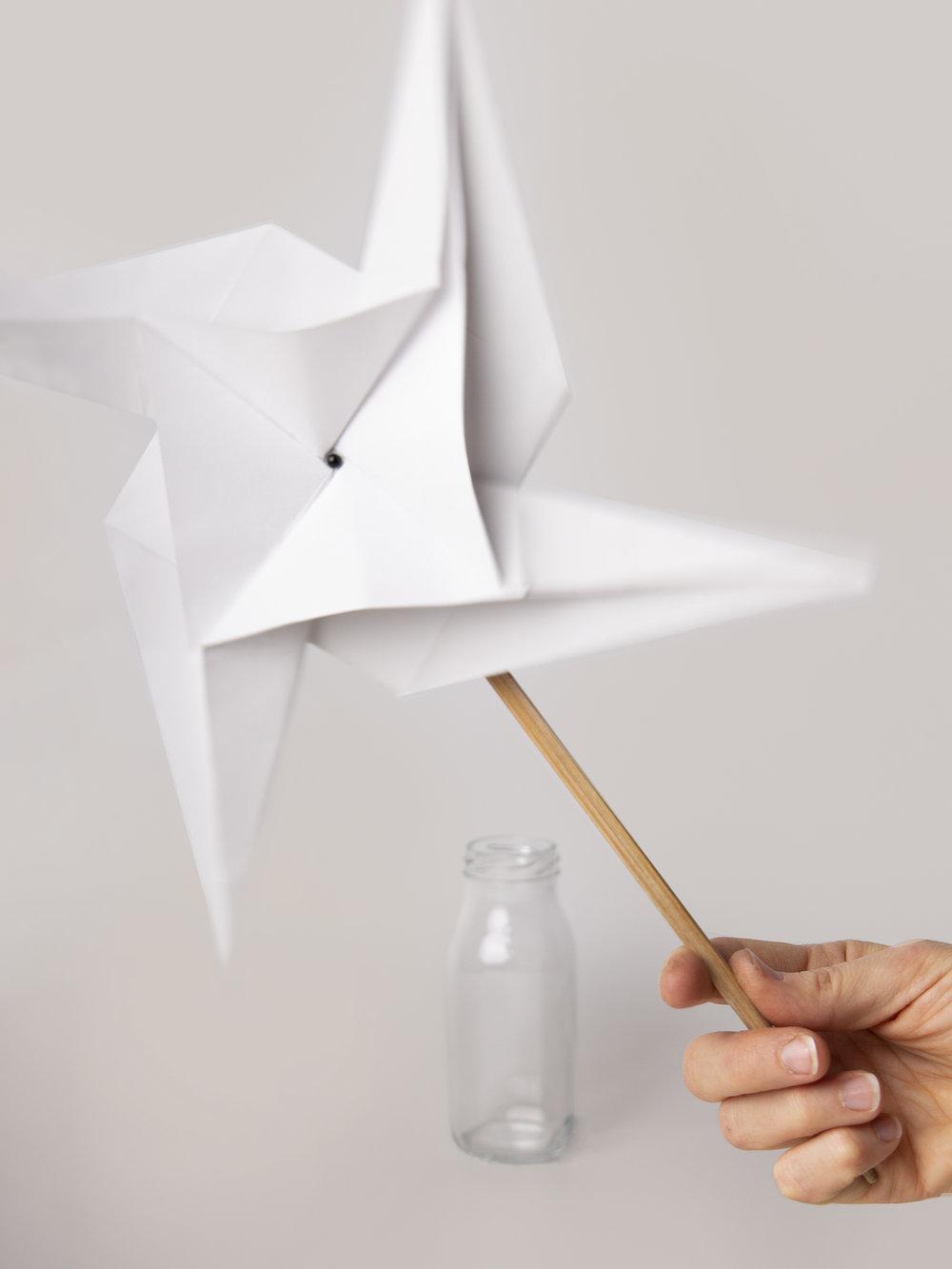 Origami Figur Windrad  Origami figure Pinwheel