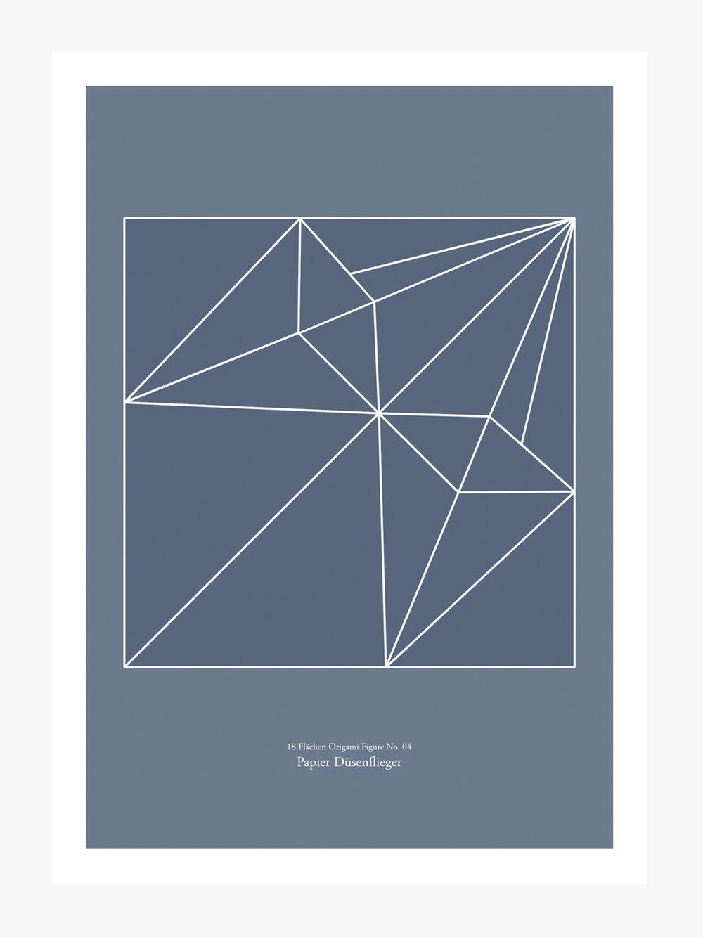Origami Print Papierdüsenflieger  Origami print Paperjet