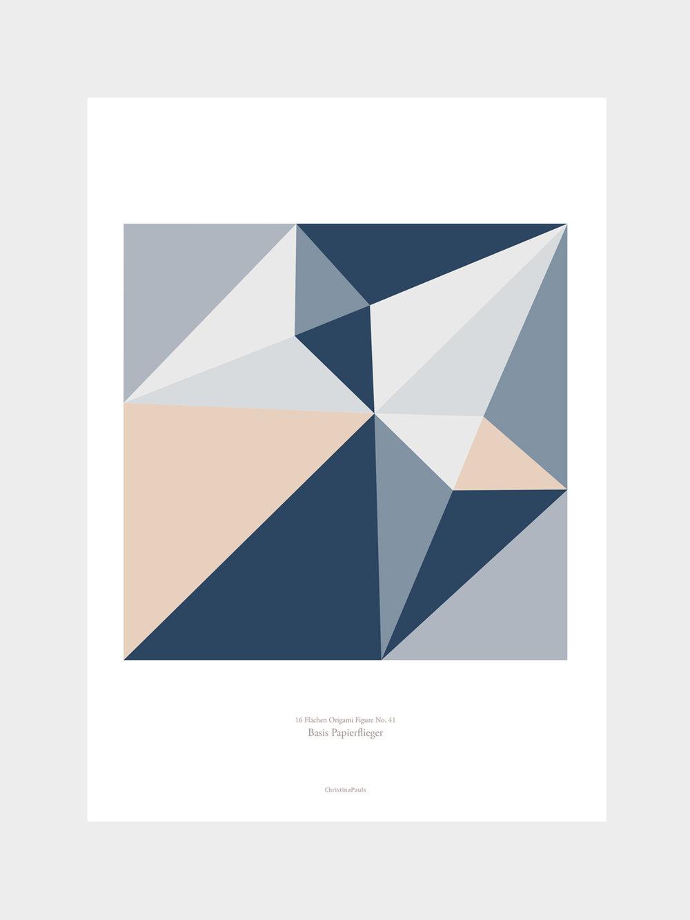 Origami Print Papierdüsenflieger, mehrfarbig  Origami print Paperjet, multicolored