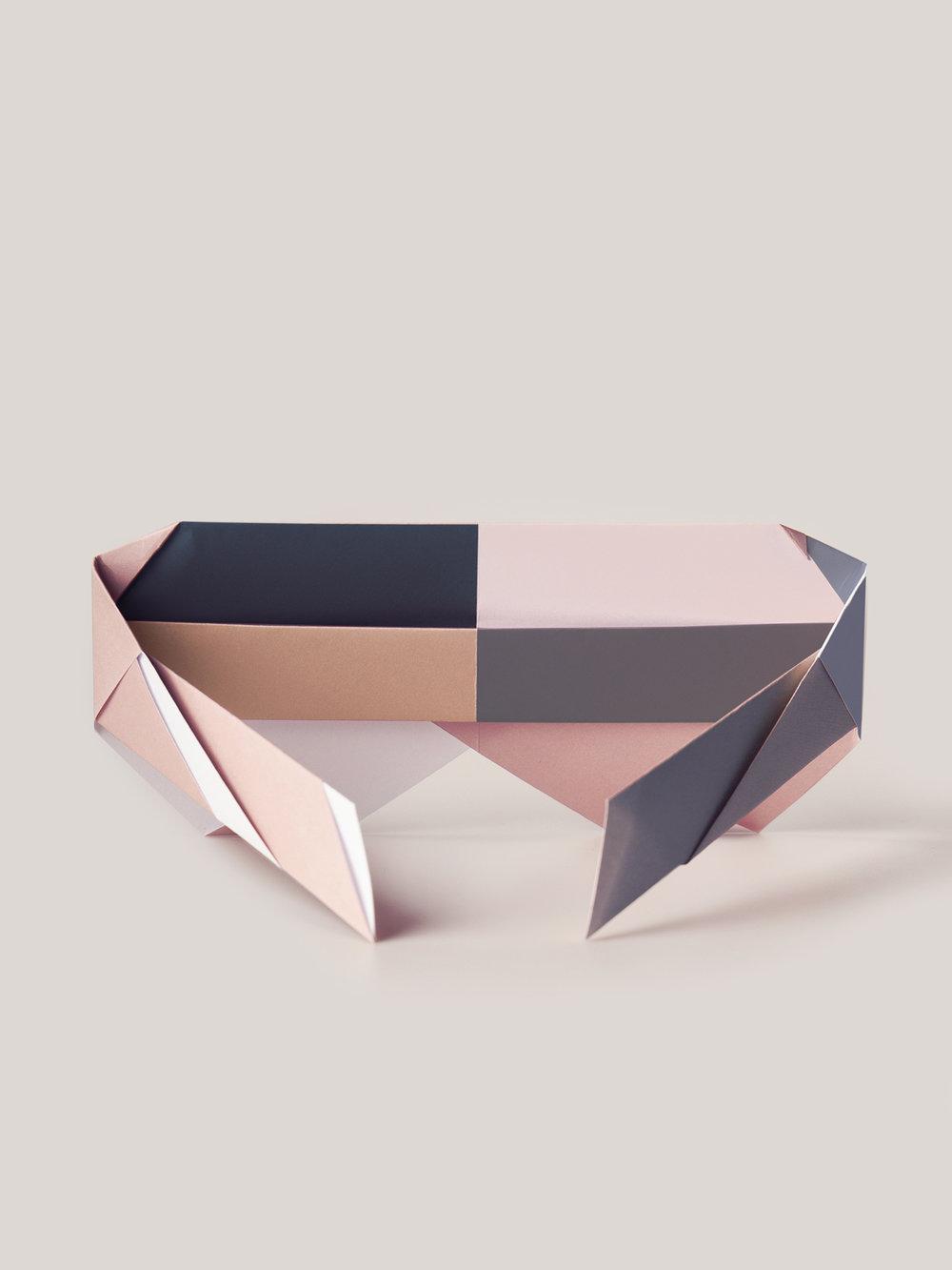 Origami Figur Sunglasses Diva, mehrfarbig  Origami figure Sunglasses Diva, multicolored