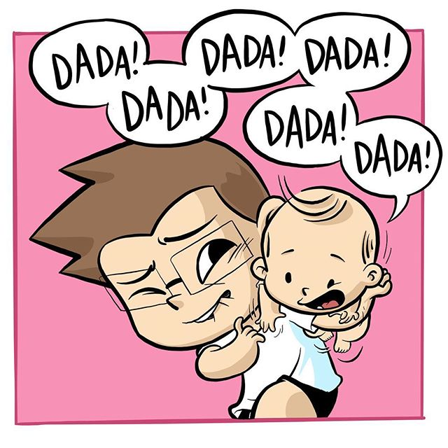 #illustration #ipadproart #parenting #daddy #babybee #homeycomb