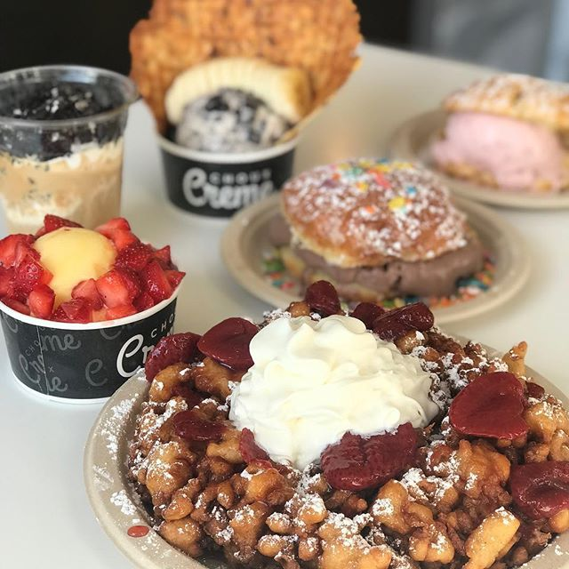 It's Friday !🤗☀️ Enjoy any ice cream combo of your choice 😋. Whatever your tummy desires woohoo 🍦 . . #funnelcake #icecream #chouxcremefullerton #yummy #foodporn #dessert #madetoorder #liquidnitrogenicecream #tasty #creamy #cream #creme  #delicious #sogood #goodday #hot #yum #sweet #woo #woohoo #orangecountyfood #ocfood #insiderfood #foodnetwork #buzzfeed #fullerton #downtownfullerton