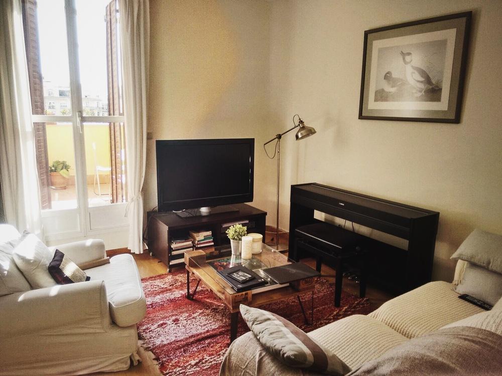 Mesa Ibiza en el precioso salón de Anna.
