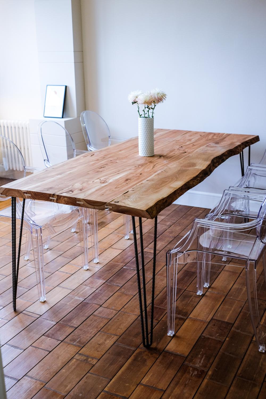 Mesa Olmo en casa de uno de nuestros clientes.