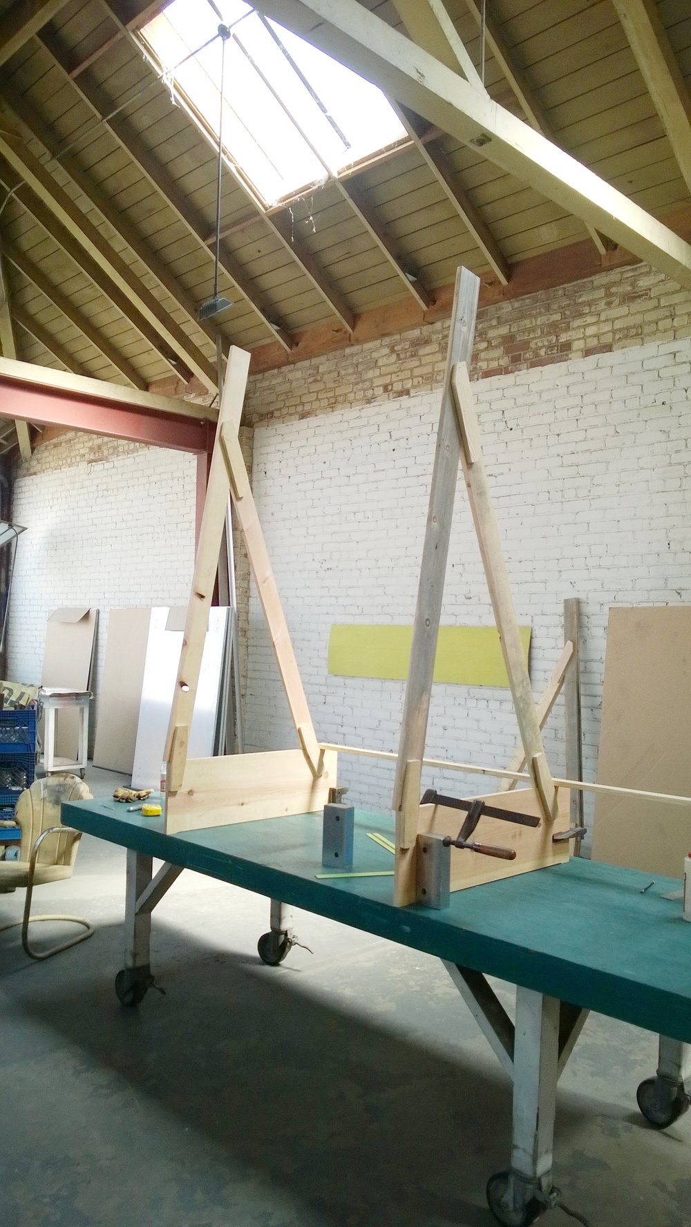 Building the easel