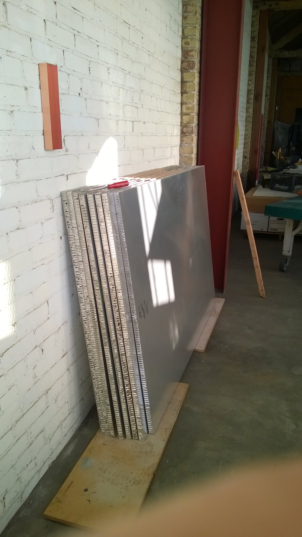 "Ten new panels, each measure 48"" x 72"" x 1"""