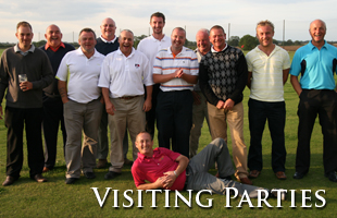 Visiting parties, golf society days and corporate events