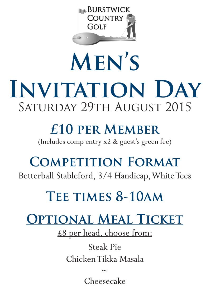 Men's Invitation Day
