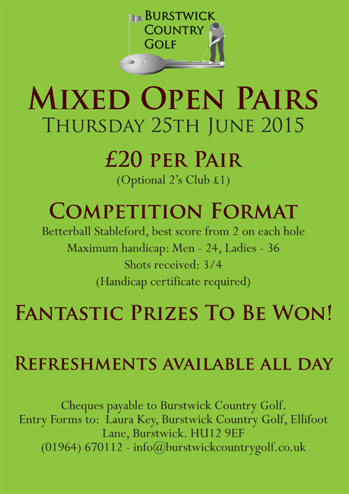 Mixed Pairs Open