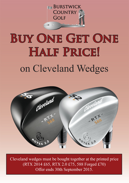 Buy one get one half price Cleveland RTX Wedges