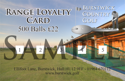 Driving Range Loyalty Card