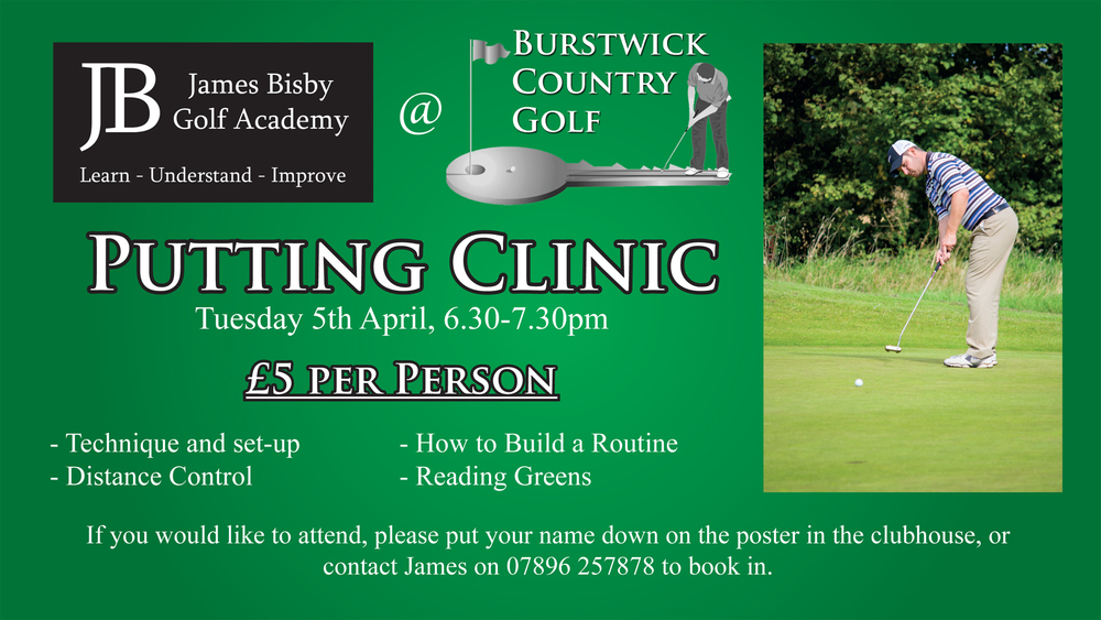 Putting Clinic, Tuesday 5th April