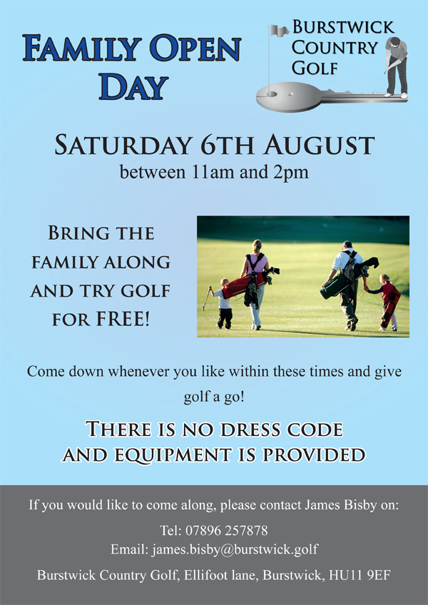 Golf Family Open Day