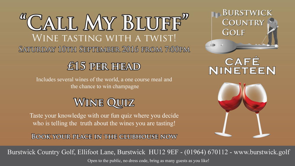 Wine Tasting Call My Bluff