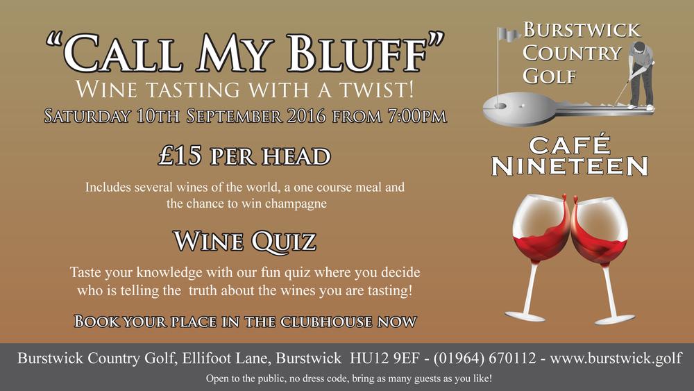 Wine Tasting Call My Bluff