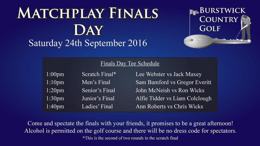 Matchplay Finals Day
