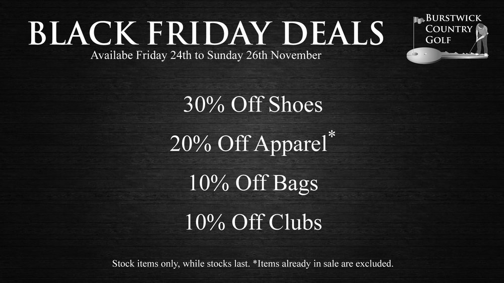 Black Friday Golf Deals near Hull, East Yorkshire