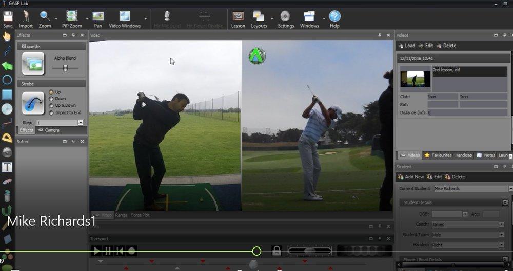 PGA Golf Lesson Video Analysis