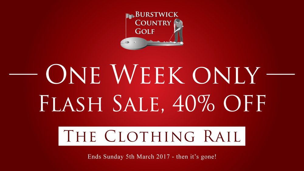 Pro shop clothing flash sale