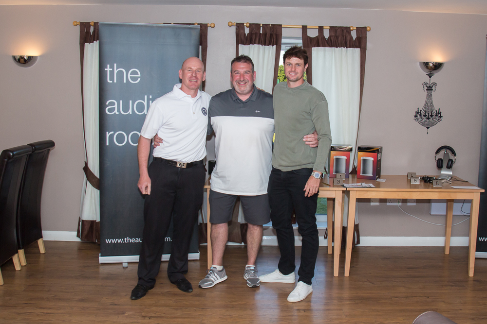 Aran Wainwright (Yorkshire PGA), Darren Bamford (The Audio Room) and Alex Belt (Winner)