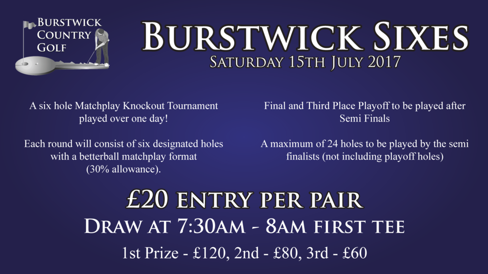 Burstwick Sixes - Six Hole Matchplay Knockout