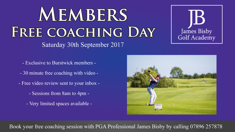 Free golf lessons with James Bisby