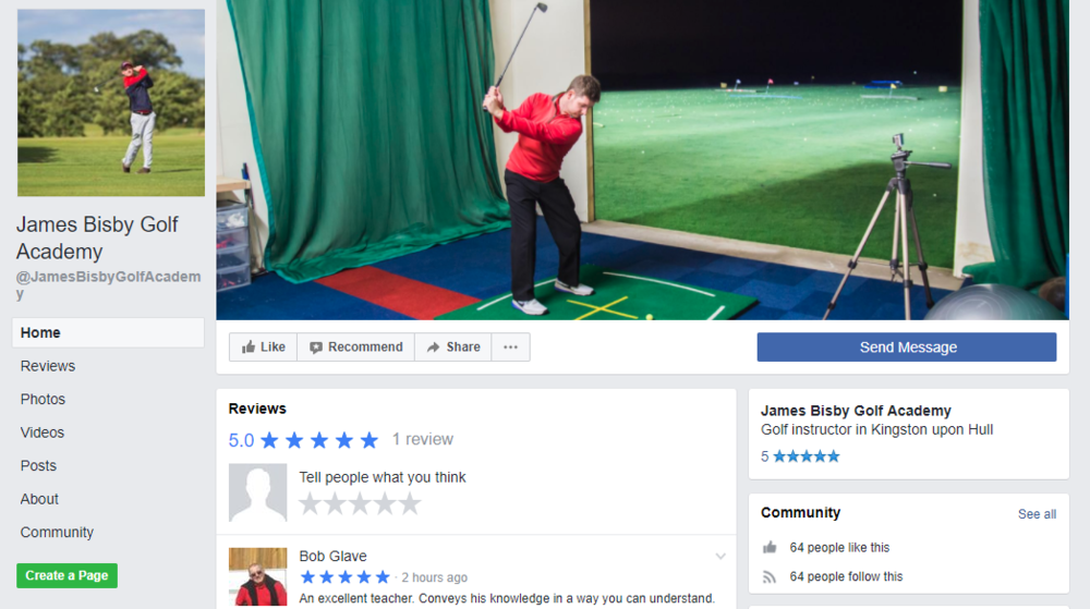 James Bisby PGA Professional Facebook Page