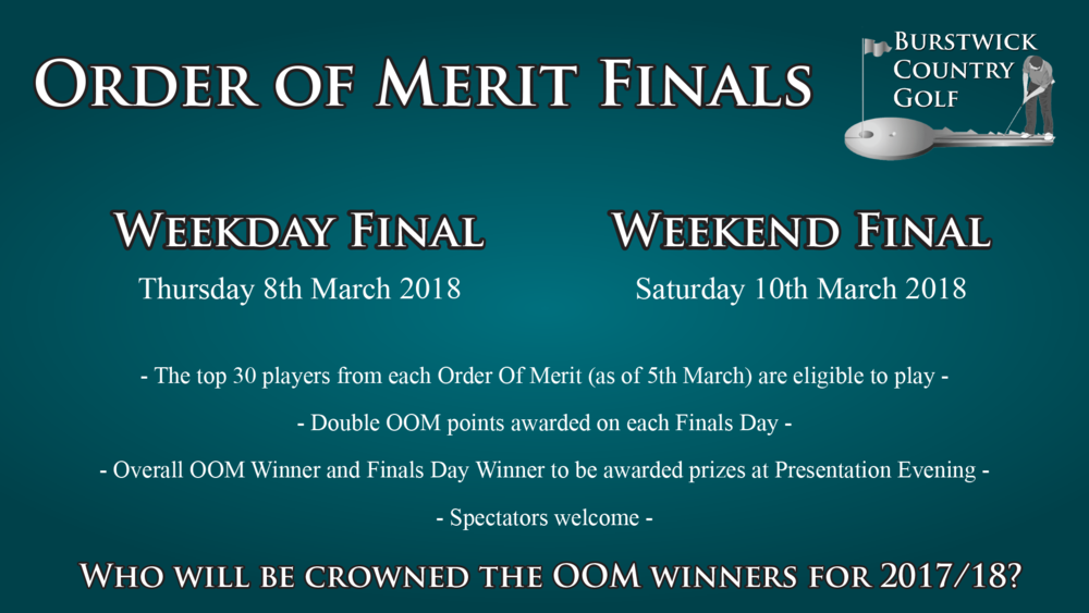 Order of Merit Finals