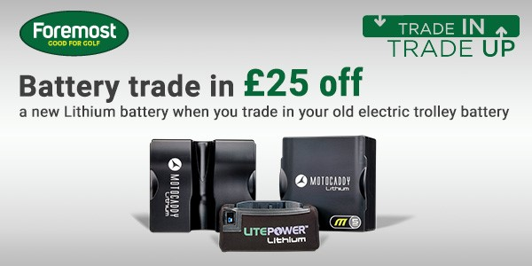 Motocaddy Lithium Battery Trade In Deal Offer