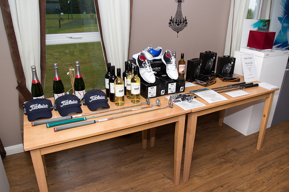 Audio Room Pro-Am Amateur Prize Table worth over £2,500