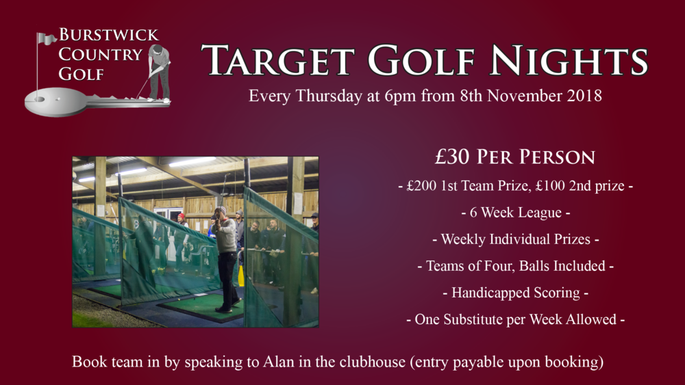 Target golf league November 2018