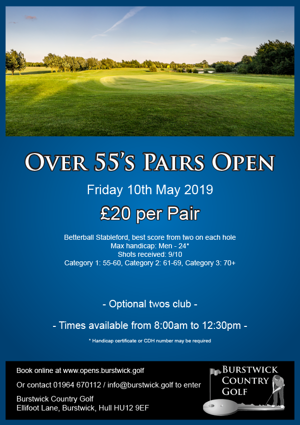 Over 55's Seniors' Open