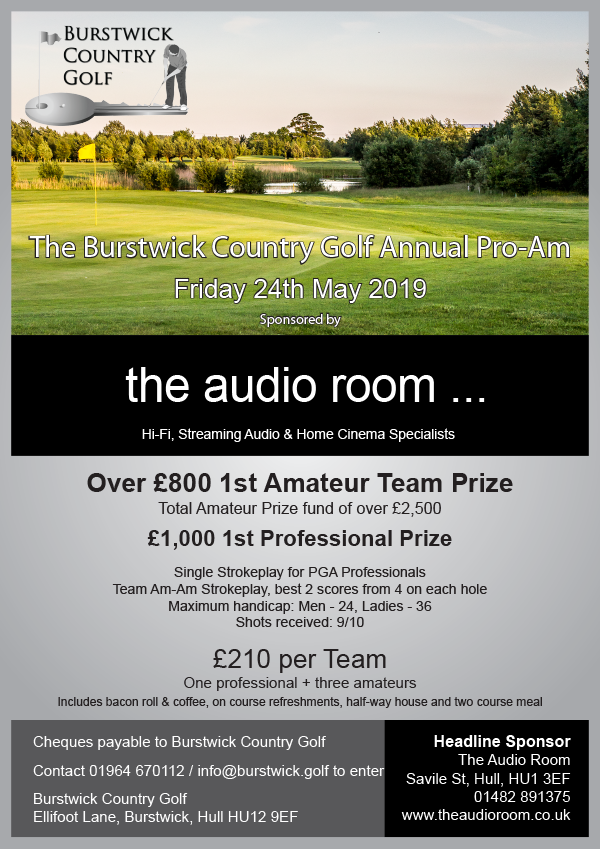 The Annual Pro-Am sponsored by The Audio Room, Hull