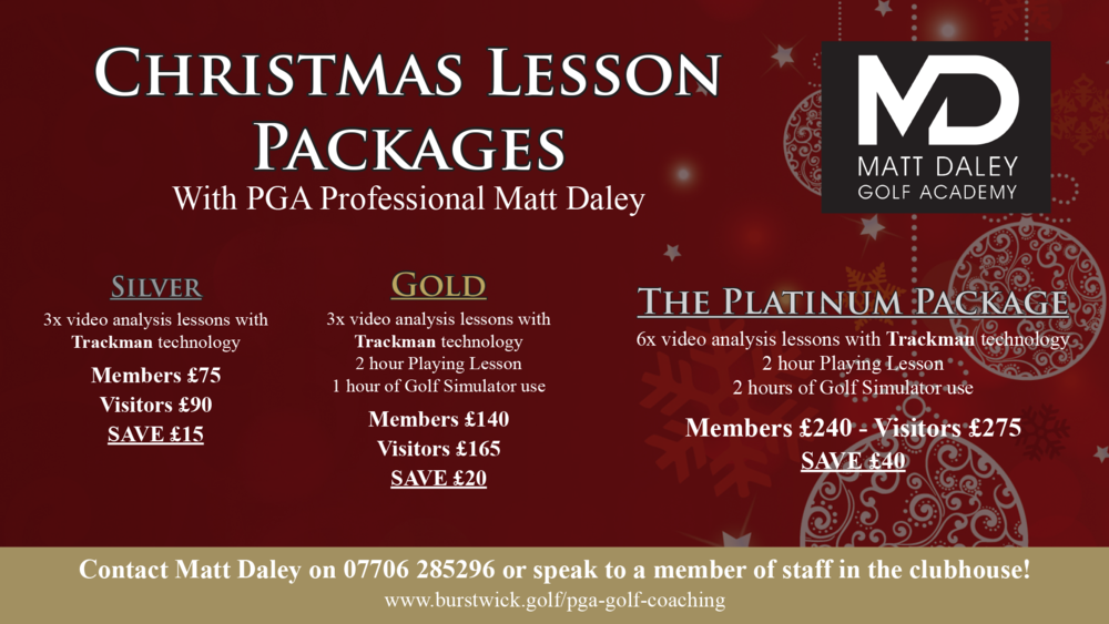 Christmas lesson packages