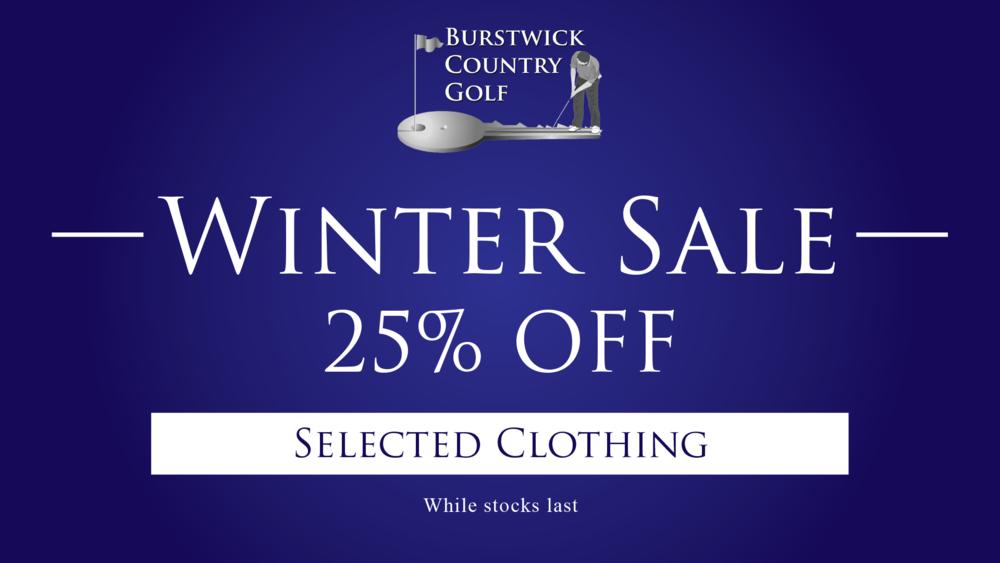 Pro Shop Winter Sale